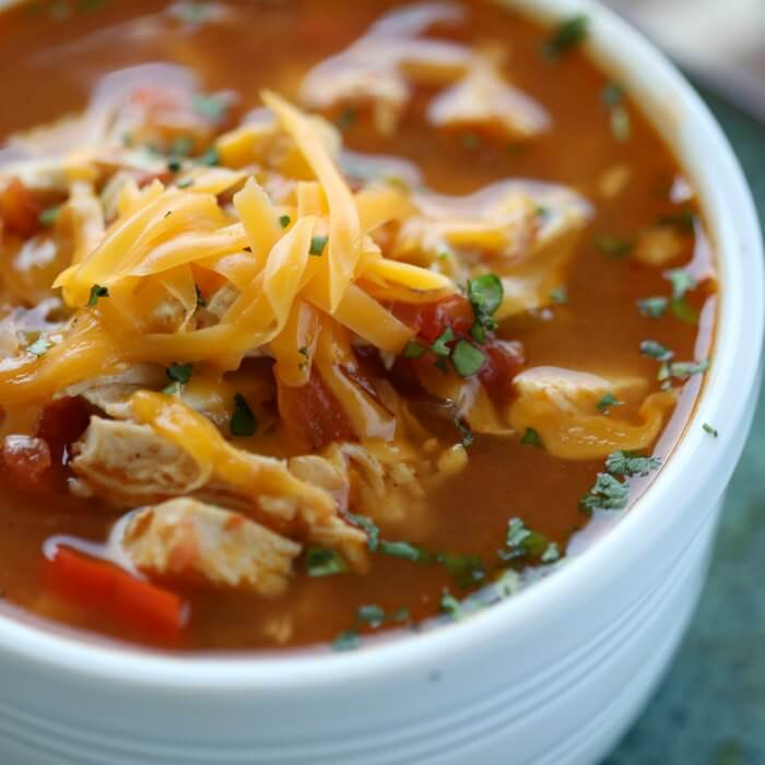 Instant Pot Chicken Fajita Soup