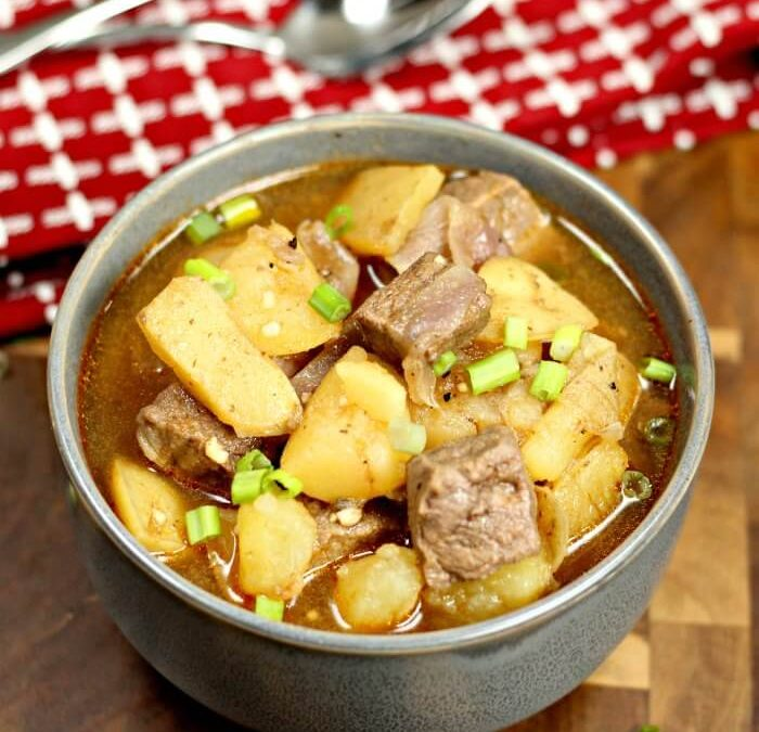 Instant Pot Steak and Potatoes Beef Stew