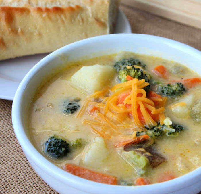 Instant Pot Creamy Vegetable Soup