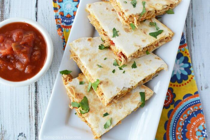 Instant Pot Chicken Quesadillas