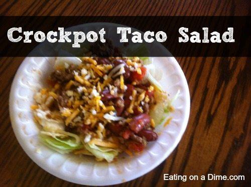 Crock Pot Taco Salad
