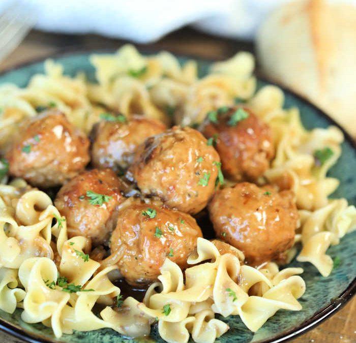 Instant Pot Salisbury Steak Meatballs