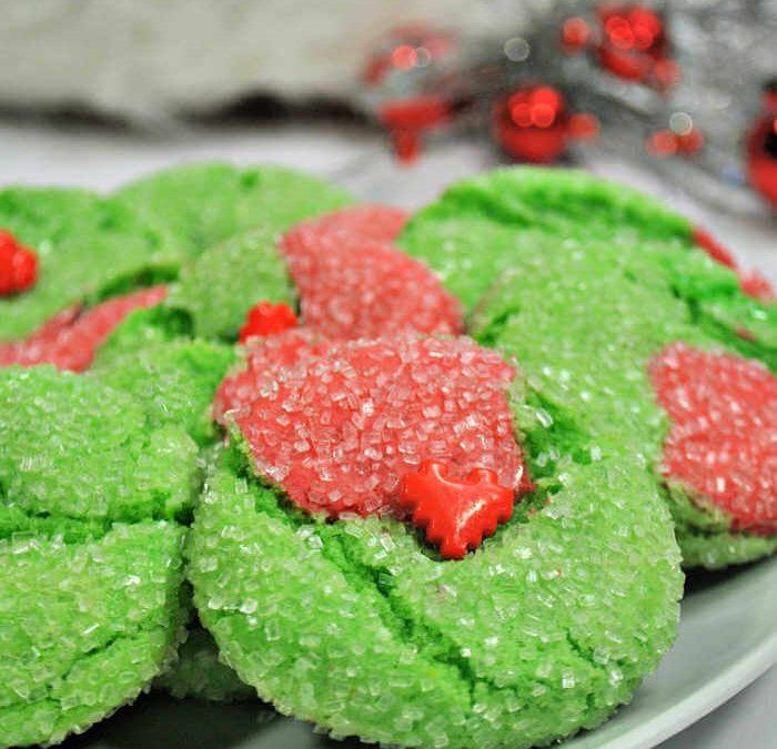Easy Grinch Crinkle Cookies