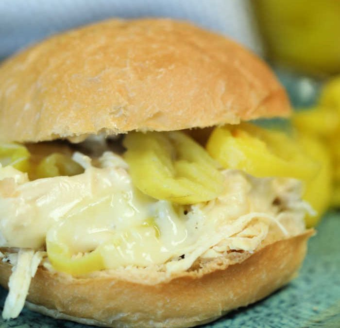 Instant Pot Mississippi Chicken Sandwiches