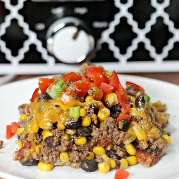 Crock Pot Taco Rice Casserole