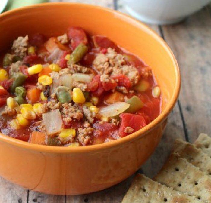 Crock Pot Beef & Vegetable Soup