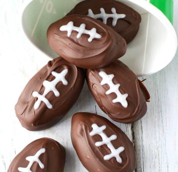 Football Shaped Chocolate Peanut Butter Balls