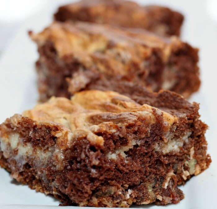 German Chocolate Cake Cheesecake Bars