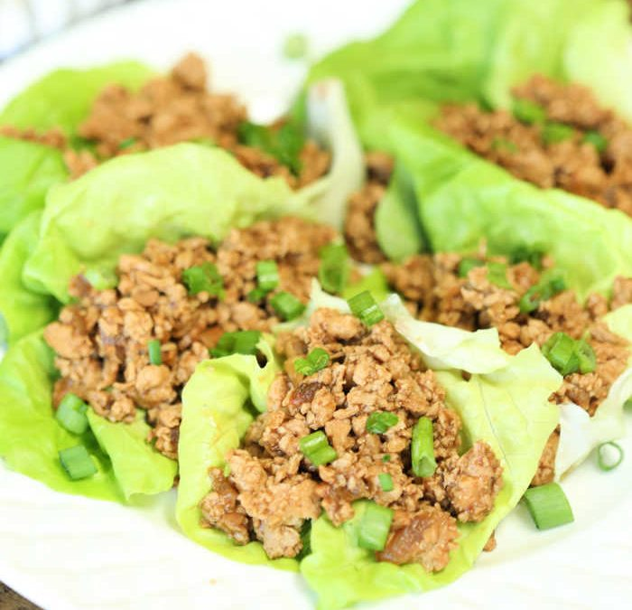Instant Pot Asian Ground Chicken Lettuce Wraps