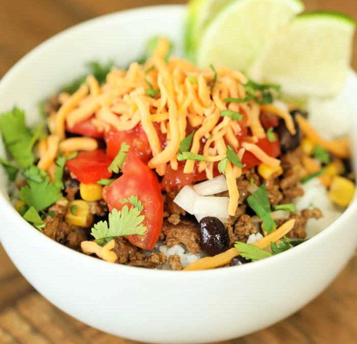 Instant Pot Ground Beef Burrito Bowls