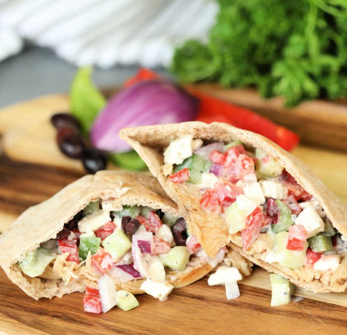 Instant Pot Greek Turkey Pitas