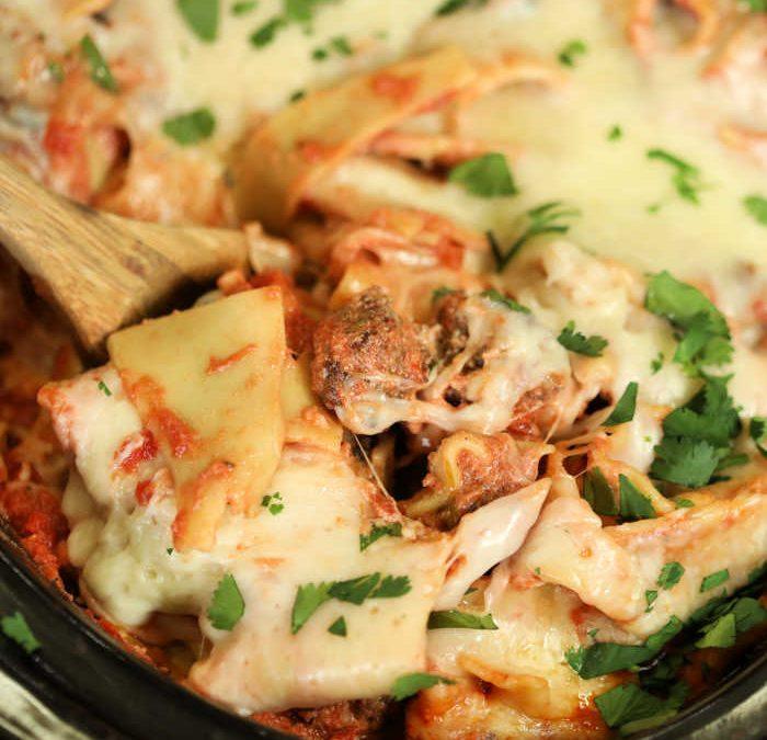 Instant pot Chunky Italian Sausage Lasagna