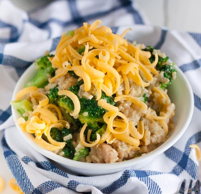 Instant Pot Chicken, Broccoli and Rice Casserole