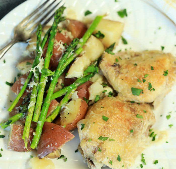 Instant pot Garlic Parmesan Chicken Thighs