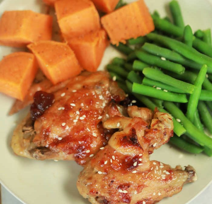 Instant Pot Cranberry BBQ Chicken Wings Dinner