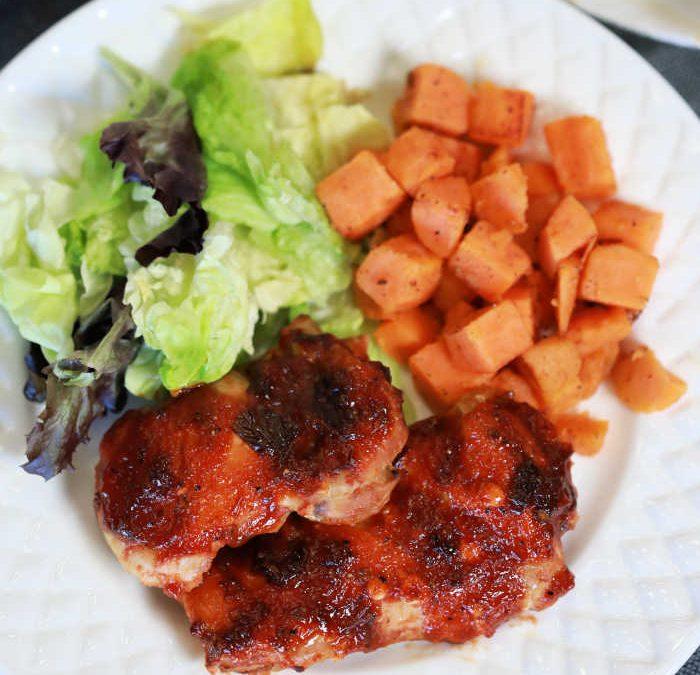 Instant Pot Honey Chipotle BBQ Chicken Dinner