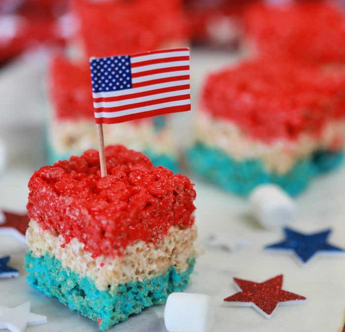 4th of July Rice Krispie Treats