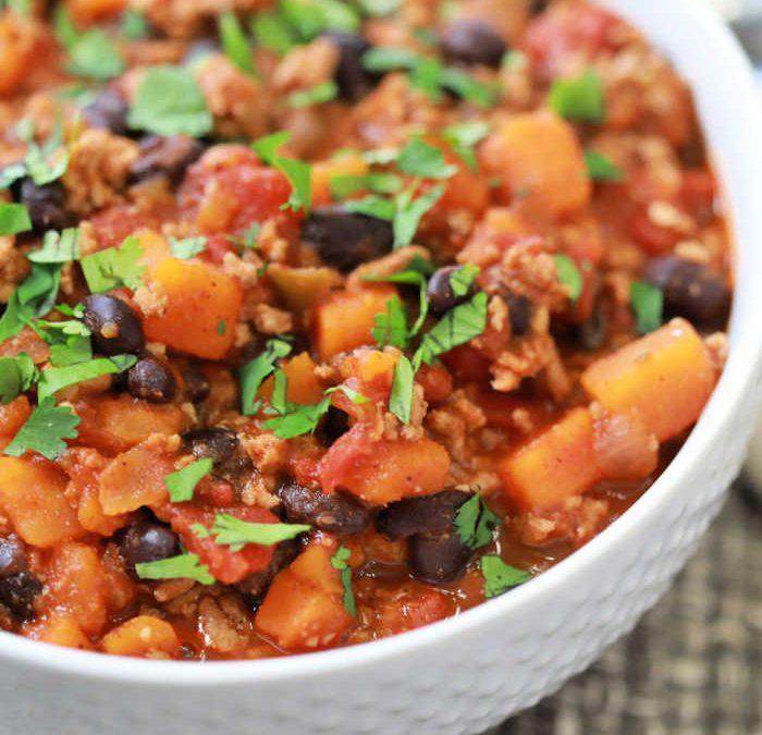 Instant Pot Turkey Sweet Potato Chili