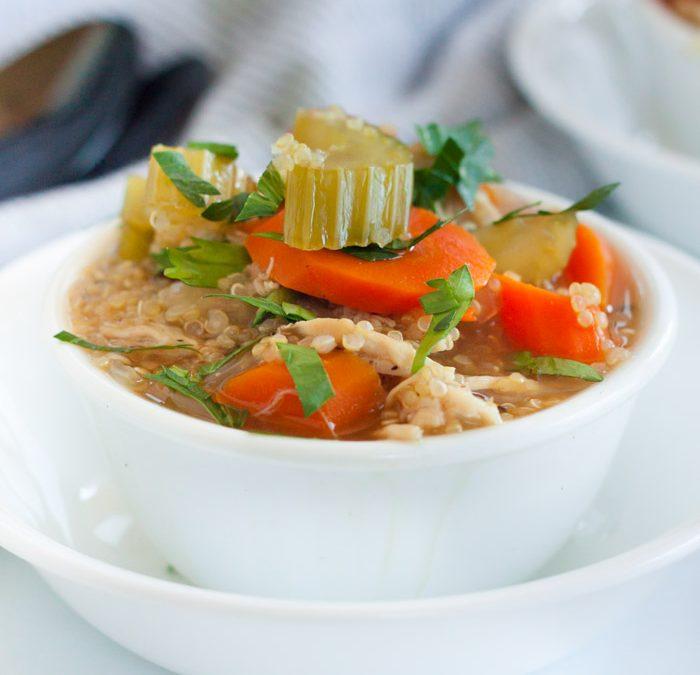 Instant pot Chicken Quinoa soup recipe