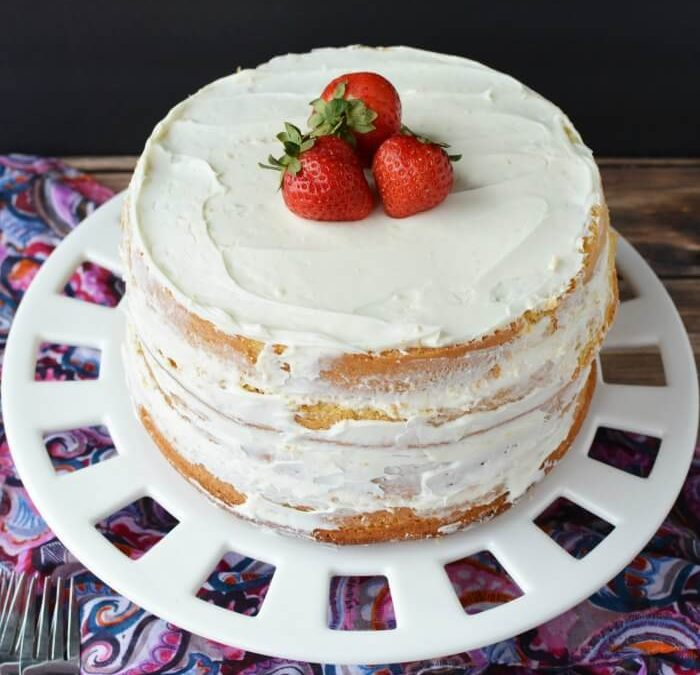 Vanilla cake from scratch