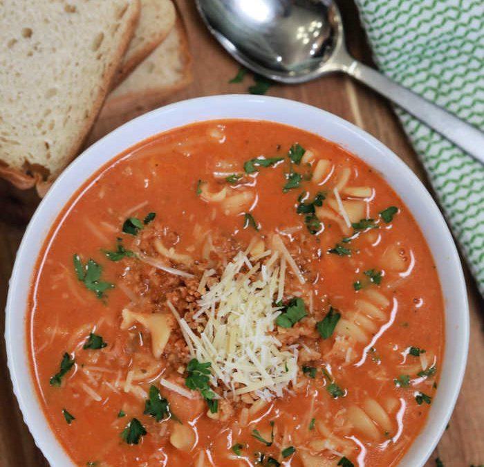 Creamy Chicken Parmesan Soup