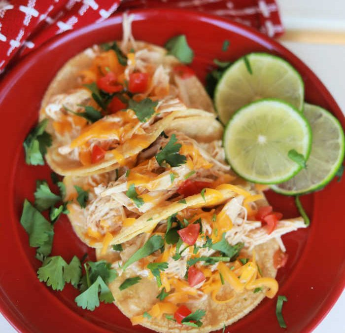 Instant Pot Creamy Fiesta Ranch Chicken Tacos