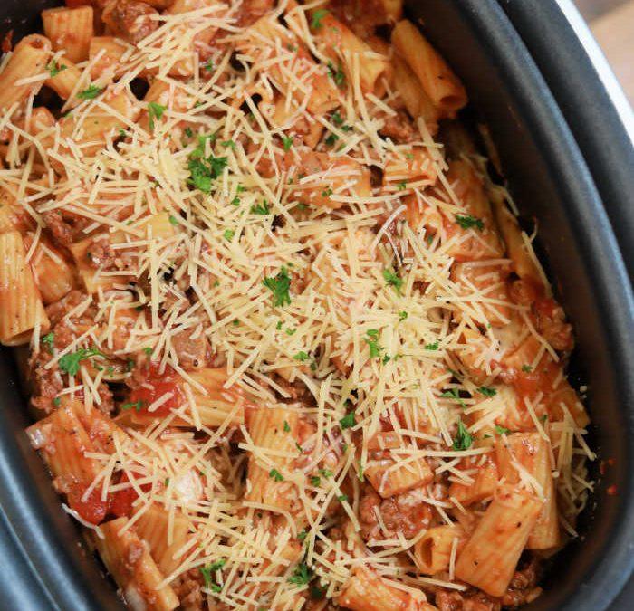 Crock pot Italian Sausage Rigatoni