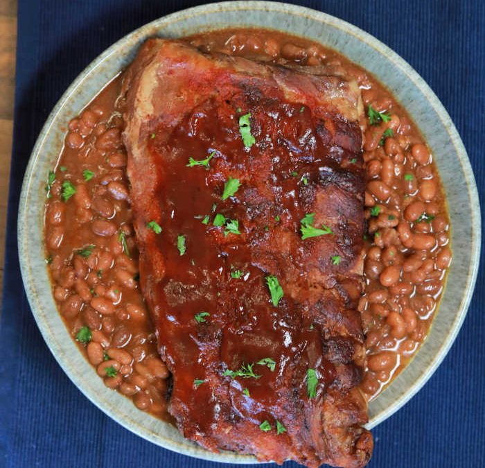 Instant pot Baby Back Ribs and Beans