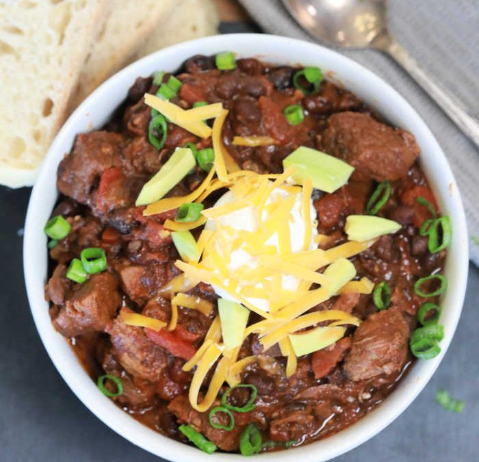 Instant Pot Beef Stew Black Bean Chili