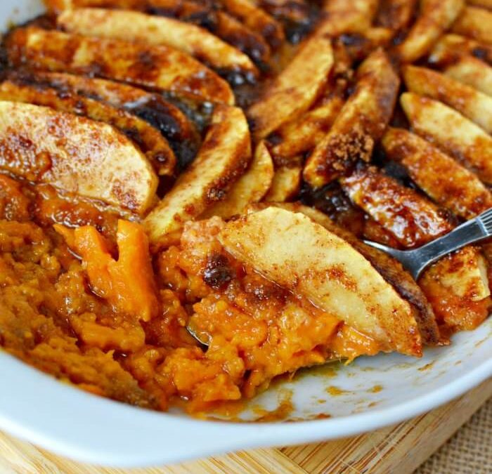 Easy Sweet Potato Casserole Recipe with Apples