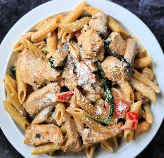 Crock Pot Creamy Mushroom Chicken Pasta