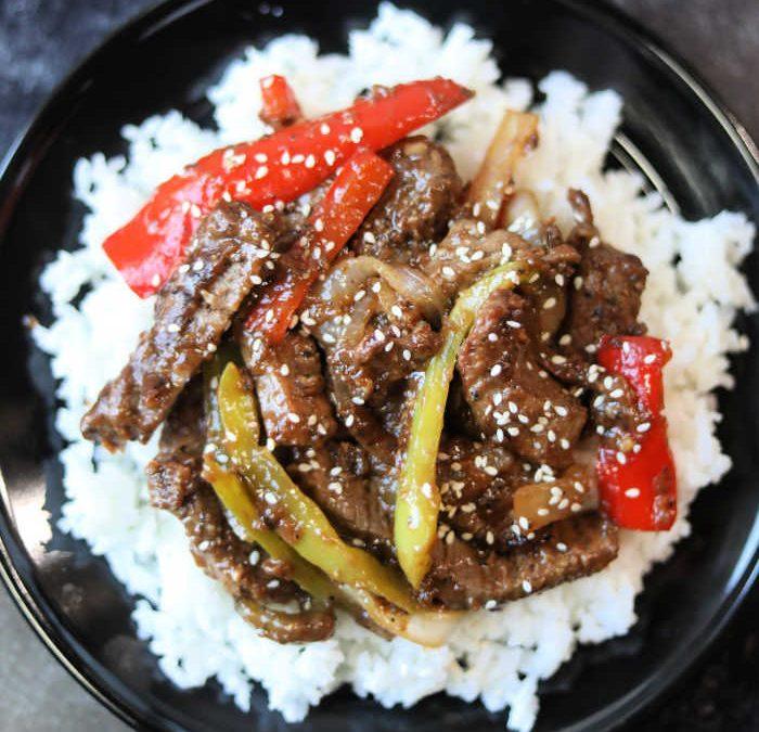 Crock pot Chinese Pepper Steak