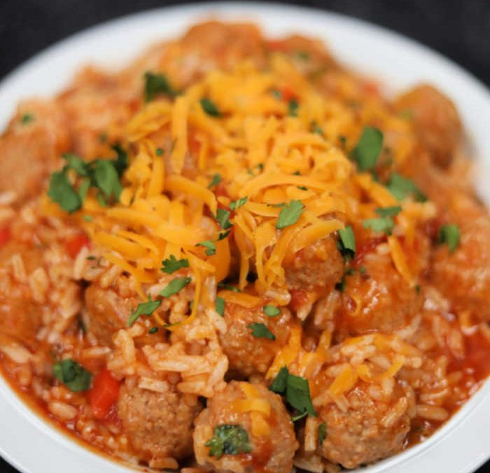 Instant pot Meatball Enchilada Casserole