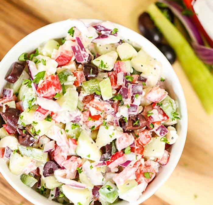 Creamy Greek Salad recipe