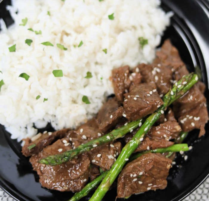 Instant pot Chinese Steak and Asparagus