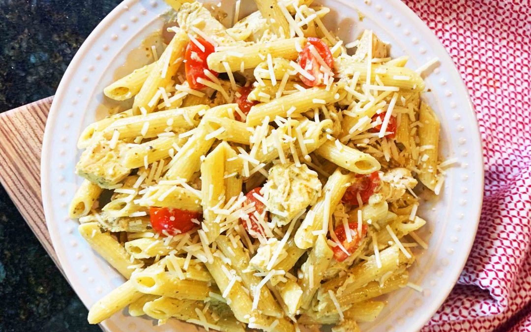 Instant Pot Creamy Pesto Chicken Penne