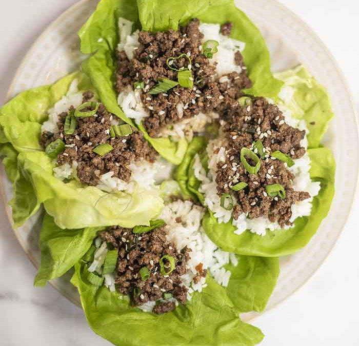 Instant Pot Korean Beef Lettuce Wraps