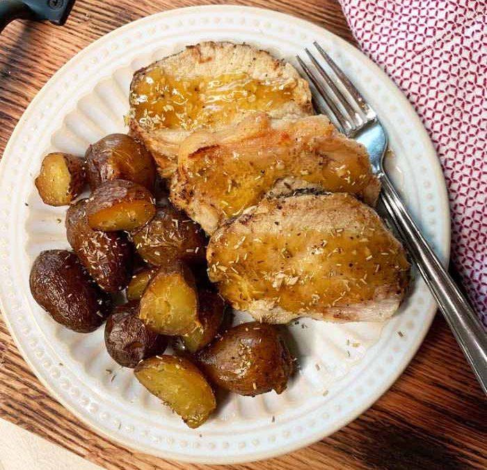 Instant Pot Rosemary Balsamic Pork Loin Dinner