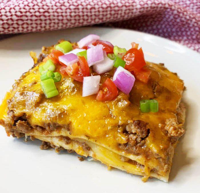 Crock pot Taco Lasagna