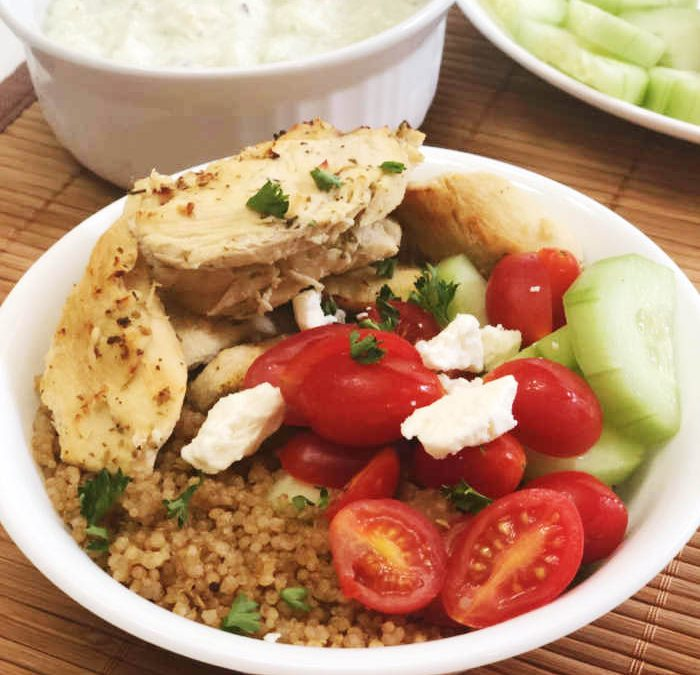 Instant Pot Greek Chicken Quinoa Bowls Recipe