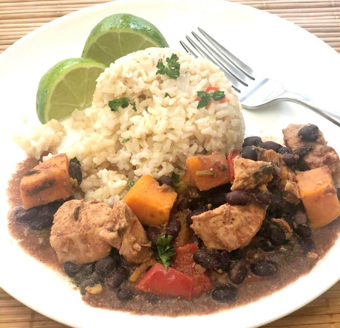 Instant Pot Latin Chicken with Sweet Potatoes