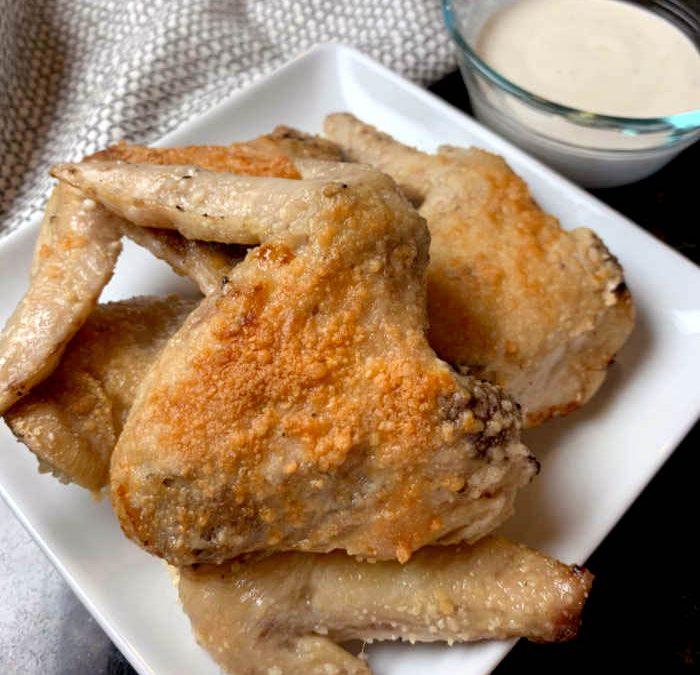 Instant Pot Parmesan Garlic Chicken Wings