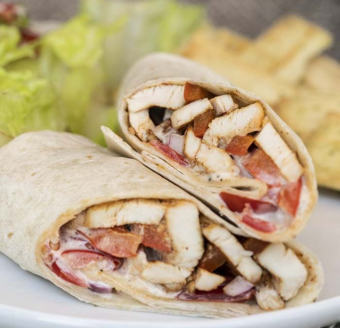 Instant Pot Cajun Chicken Wrap