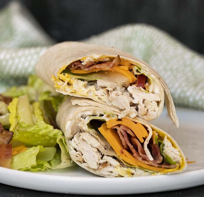Instant Pot Turkey Club Wrap