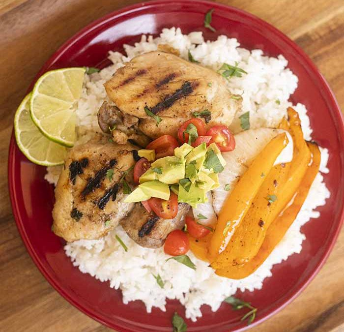 Crock Pot Southwest Chicken Thighs with Rice (GRILLING OPTION!)