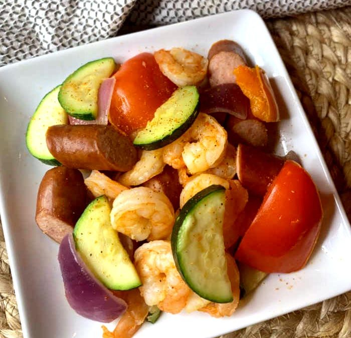 Instant Pot Cajun Sausage and Shrimp with Veggies