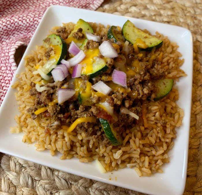 Crock Pot Mexican Zucchini Beef