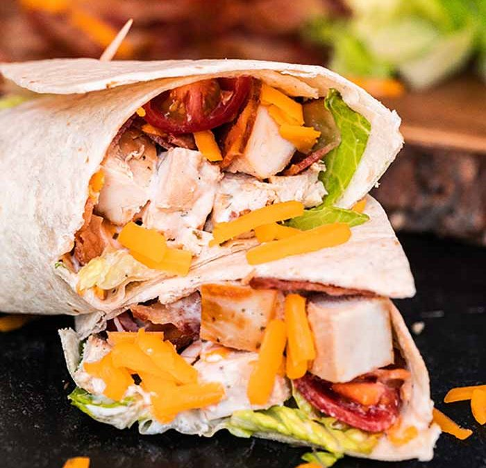 Instant Pot Chicken Bacon Ranch Wraps