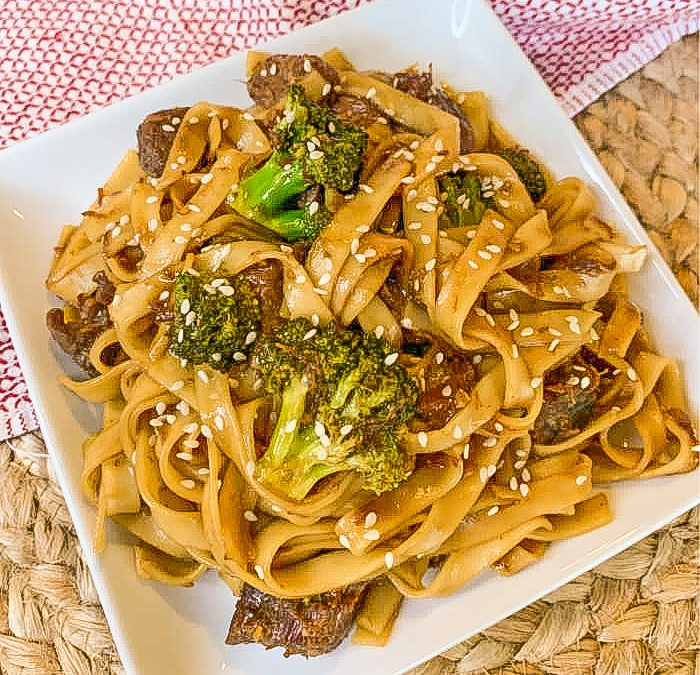 Instant pot Asian Beef and Noodles