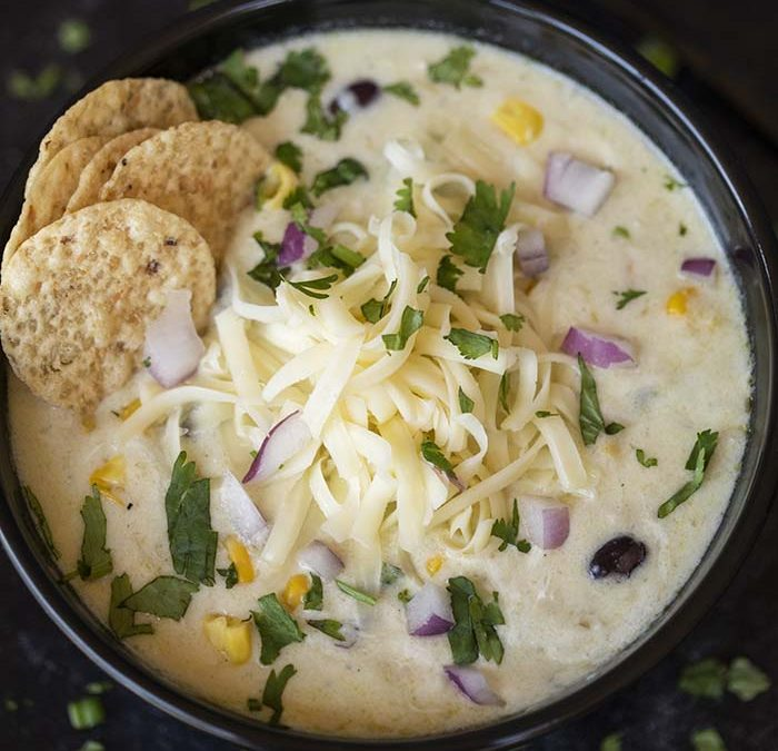 Crock Pot Green Chicken Tortilla Soup